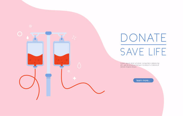Donate blood bag on blue background. Background For World Blood Donor Day. Donate blood bag on blue background. Background For World Blood Donor Day. liquid crystal display stock illustrations