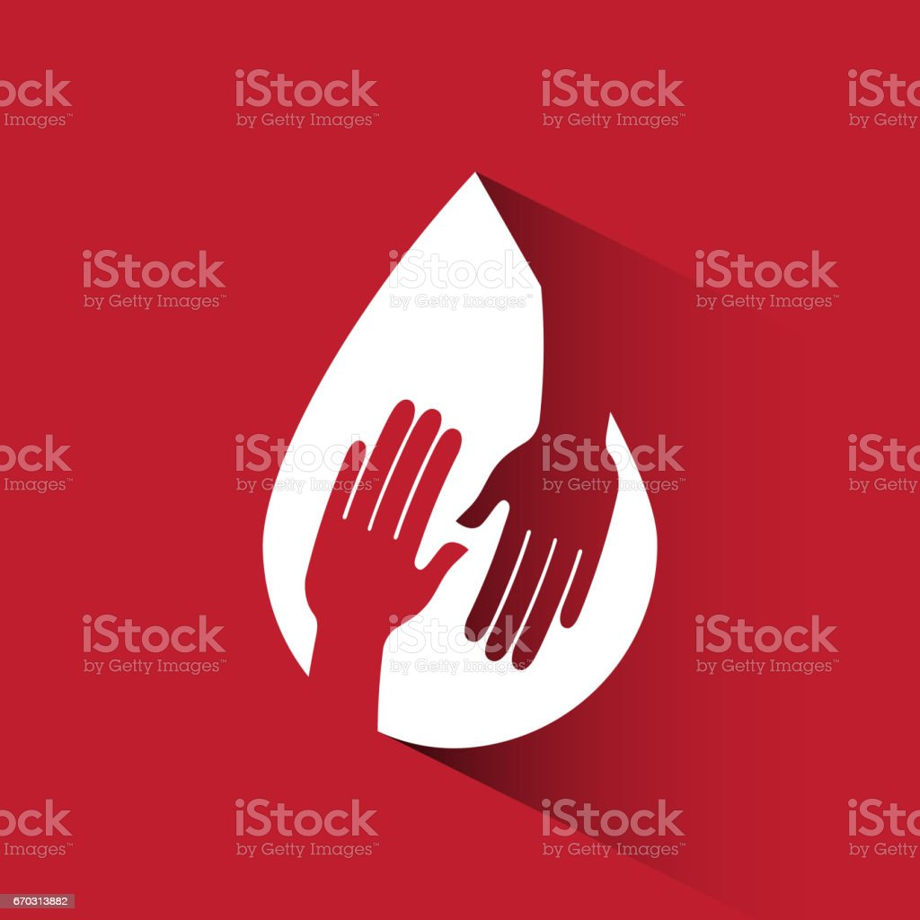 Donate blood design vector art illustration