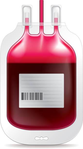 Doação de sangue, Isolado no branco, vetor - ilustração de arte em vetor