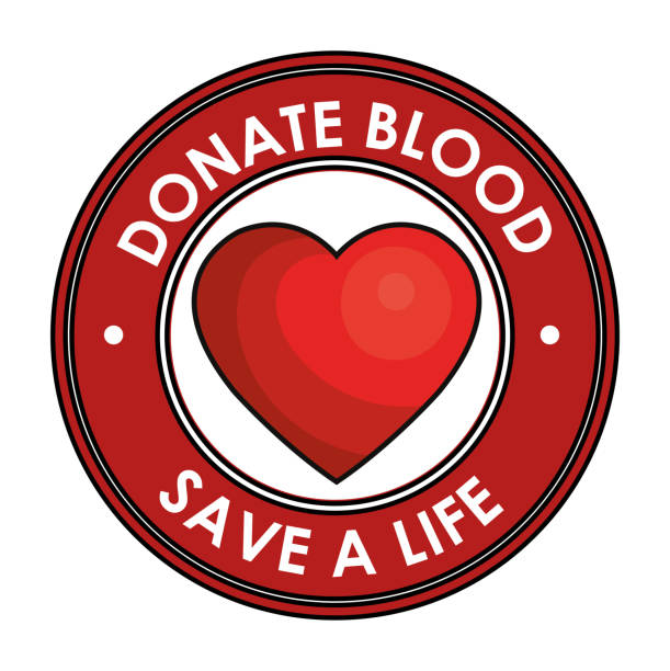 donate blood save a life vector art illustration