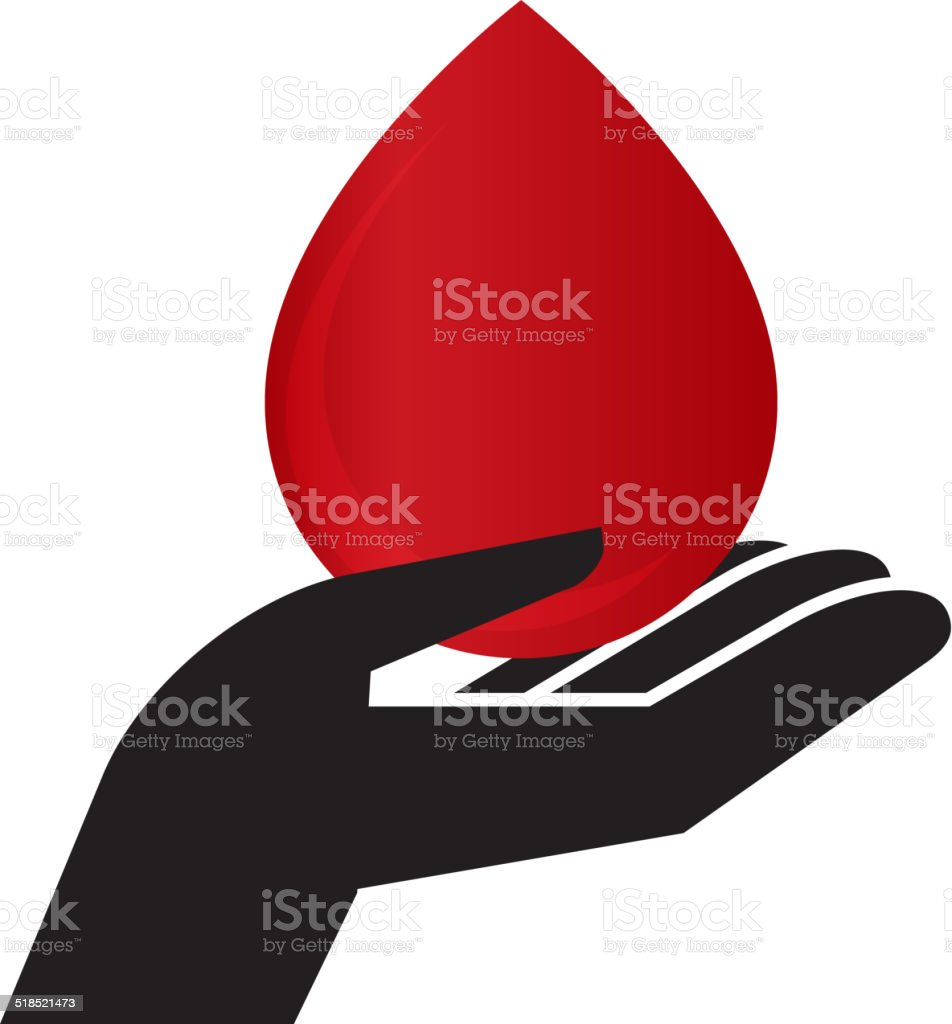 Donar sangre - ilustración de arte vectorial