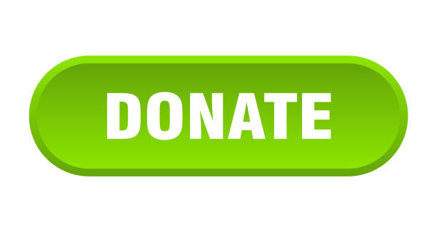 donate button. donate rounded green sign. donate vector art illustration