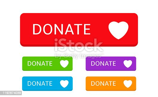 istock Donate button icons7 1192874039