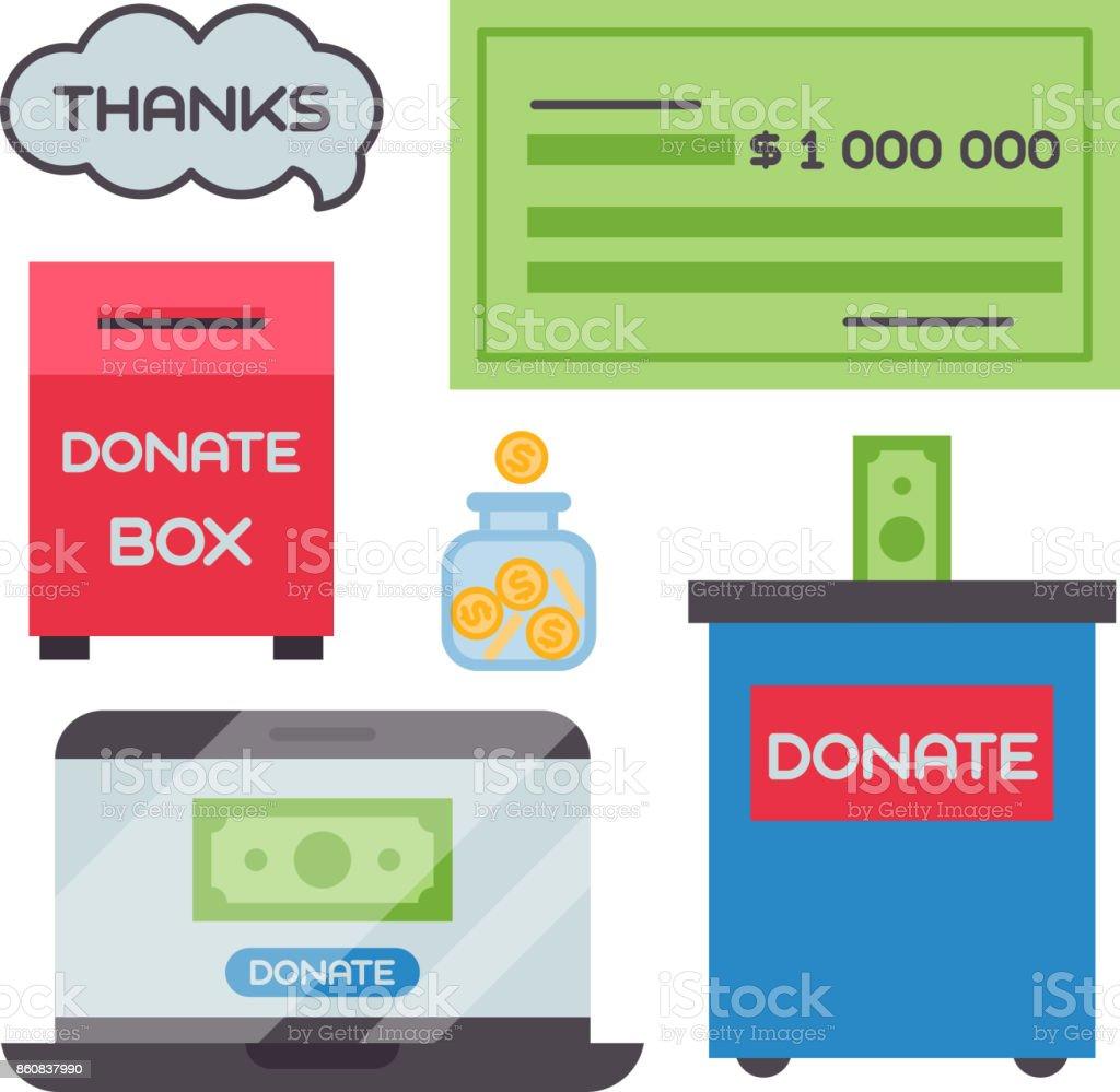 Faire Un Don Dargent Coffret Symboles Aide Philanthropie Don