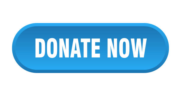 donate now button. donate now rounded blue sign. donate now vector art illustration
