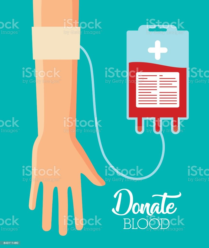 donation blood design vector art illustration