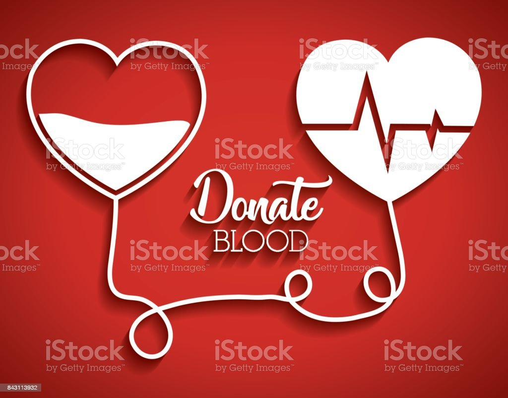 donation blood design vector art illustration