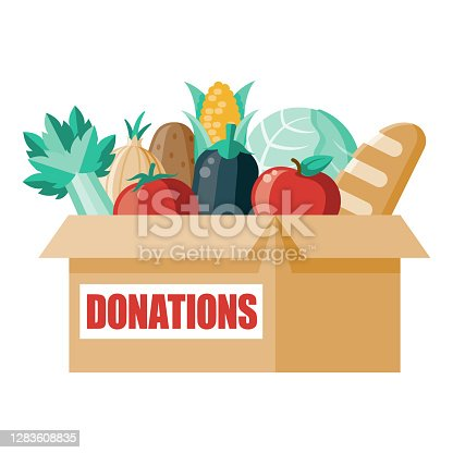 istock Donation Box Icon on Transparent Background 1283608835
