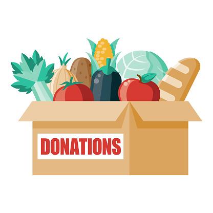 Donation Box Icon on Transparent Background