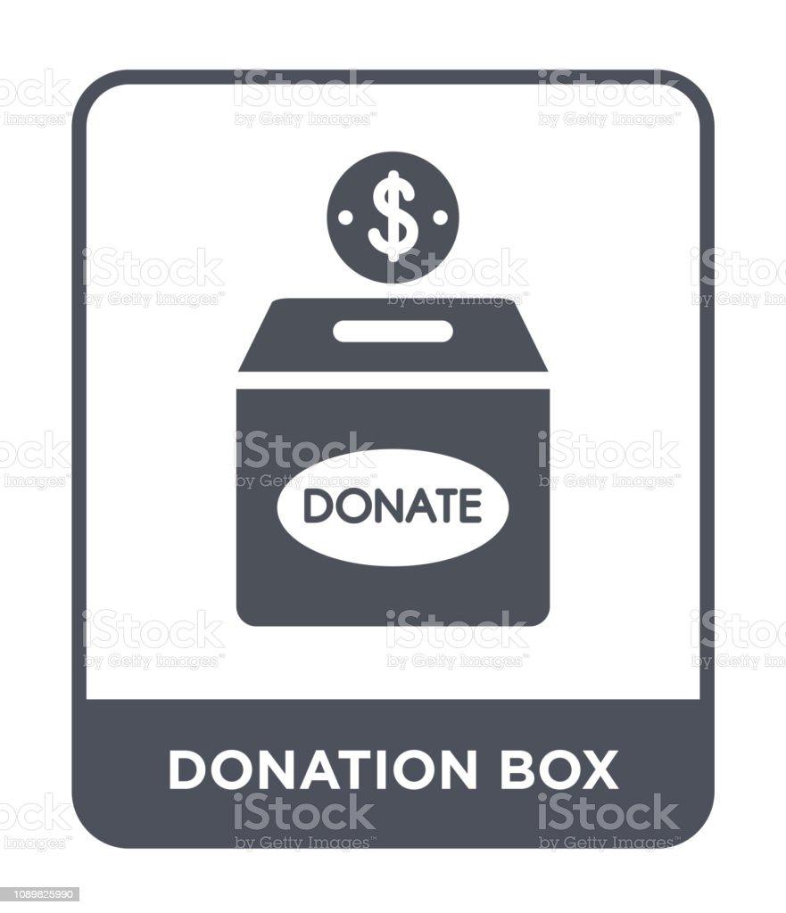 donation box icon vector on white background, donation box trendy...