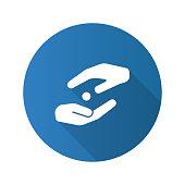 Donation flat design vector icon