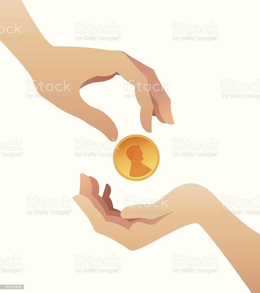 Donation royalty-free stock vector art