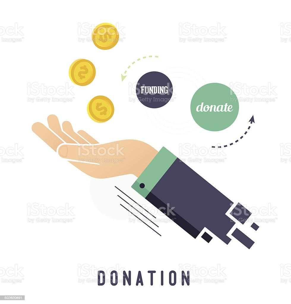 Donation vector art illustration