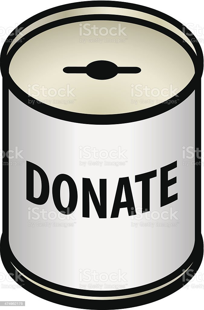 Donations Tin vector art illustration