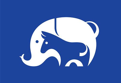 donkey and elephant symbol