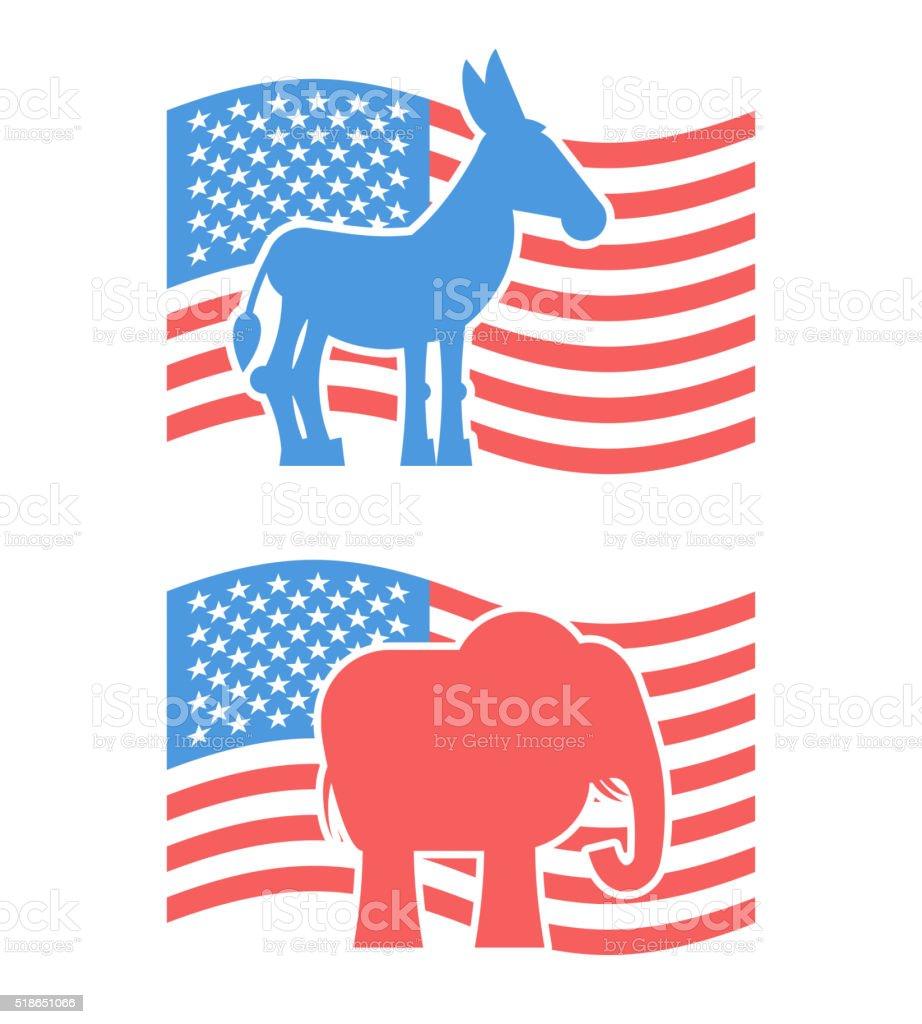 Donkey and elephant symbols of political parties in america usa donkey and elephant symbols of political parties in america usa royalty free donkey and buycottarizona