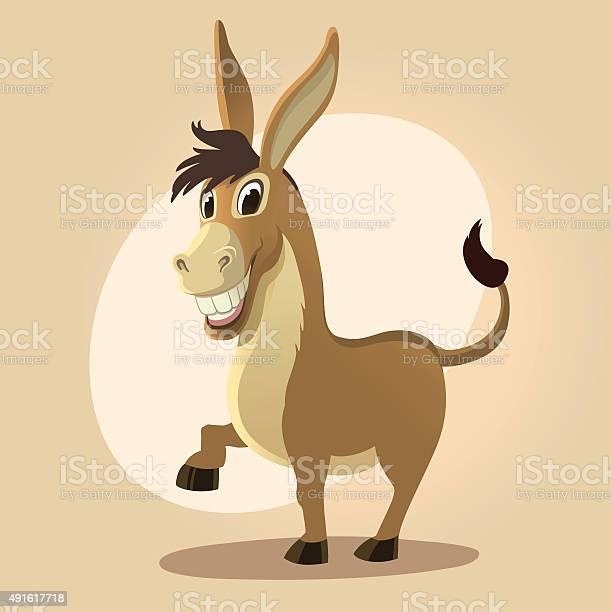 Donkey character illustration in cartoon style vector id491617718?b=1&k=6&m=491617718&s=612x612&h=hnm9knknurzfig5uqphg6m6tk4nnzarft6s rp yqx4=