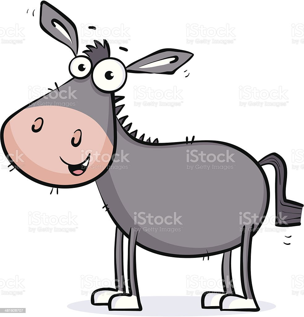 Donkey Four Legs royalty-free stock vector art