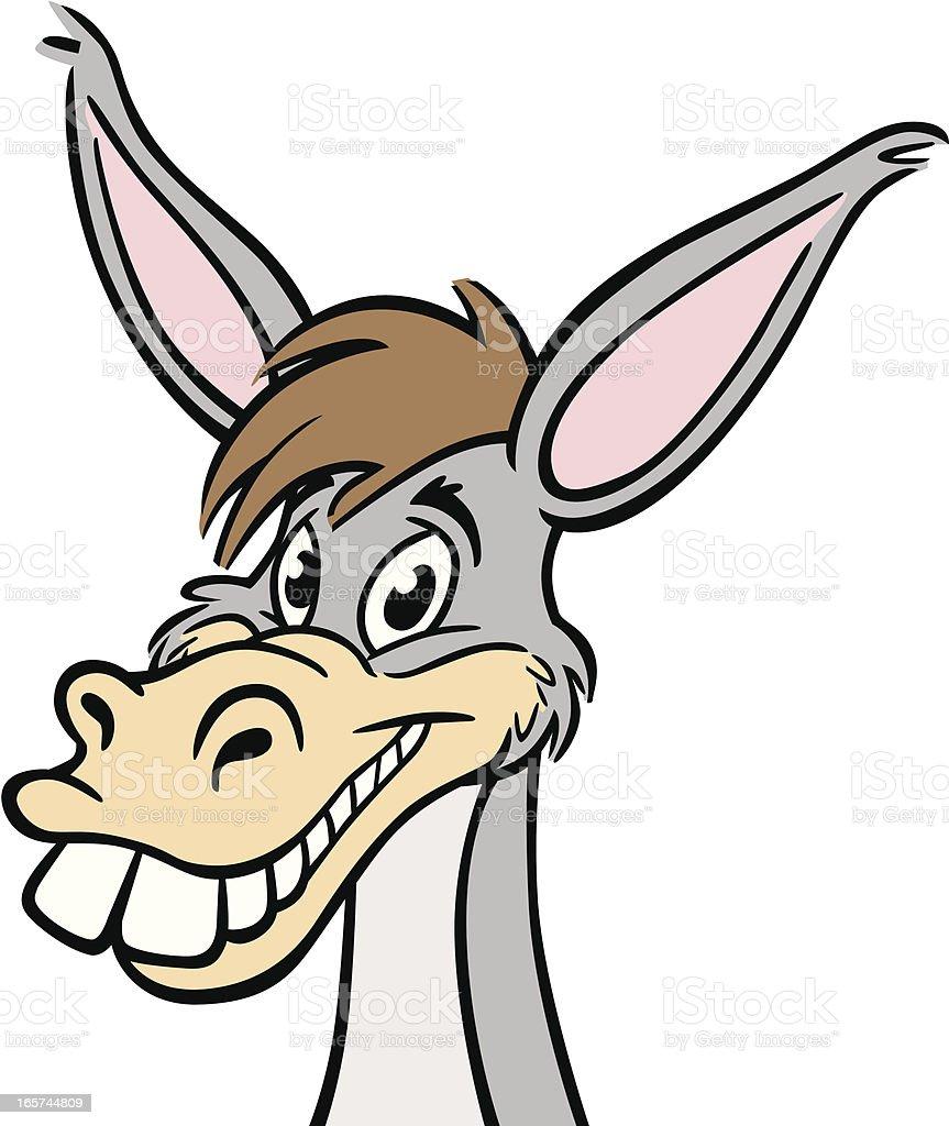 Donkey Head royalty-free stock vector art