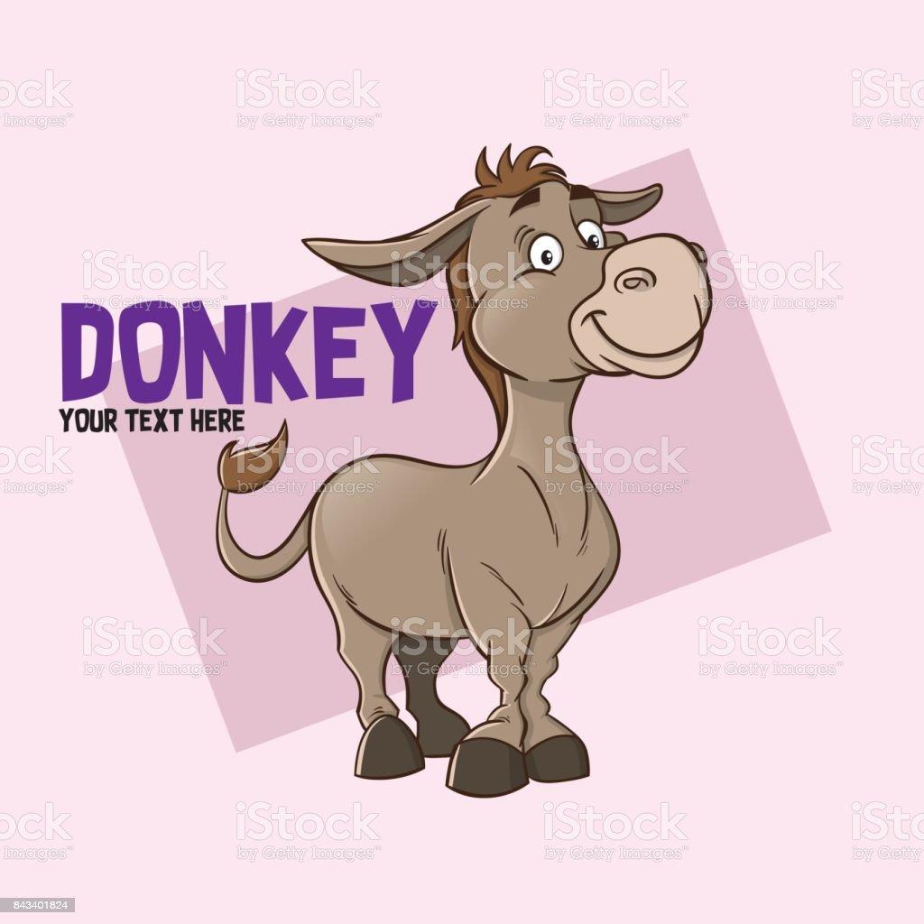 Donkey illustration character - illustrazione arte vettoriale