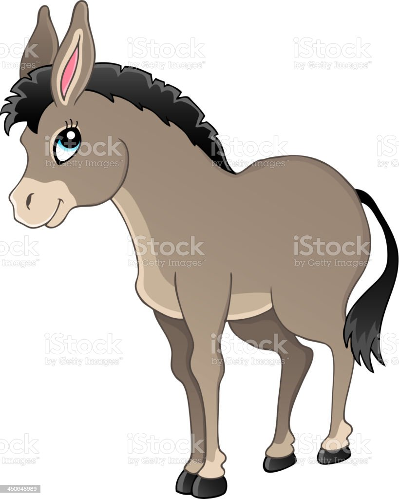 Donkey theme image 1 vector art illustration