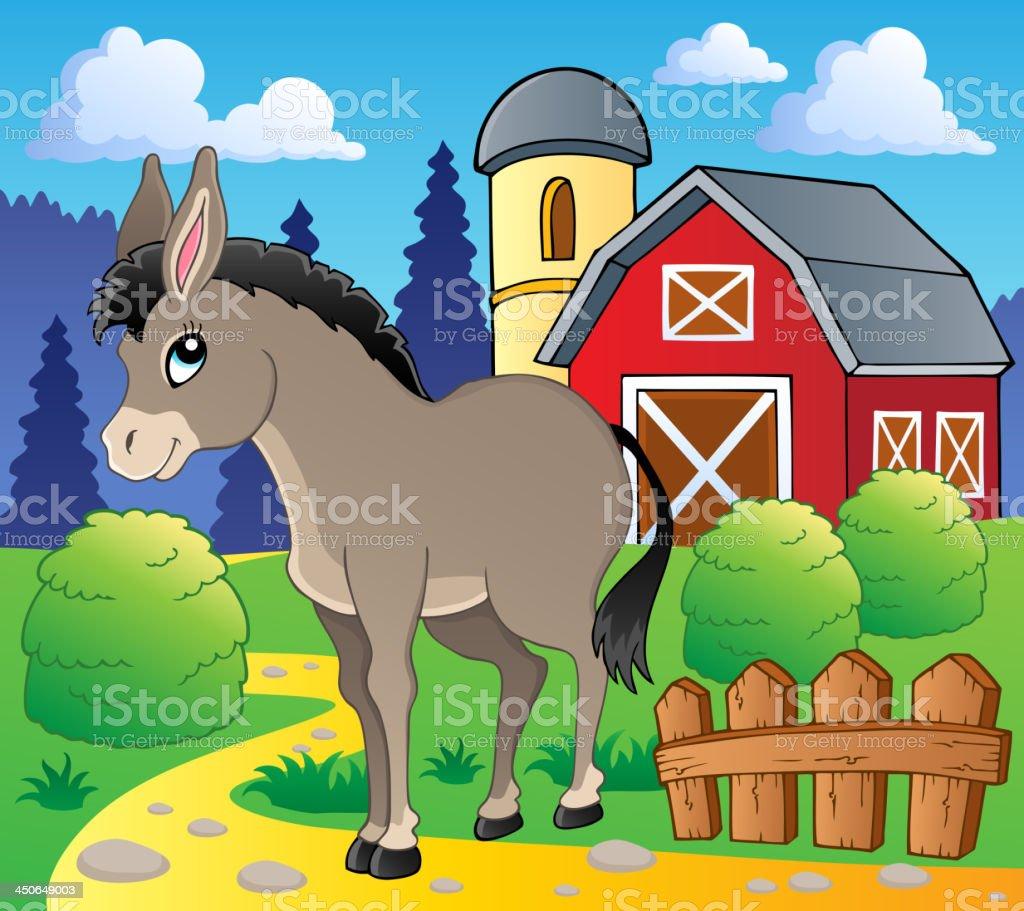 Donkey theme image 2 royalty-free stock vector art
