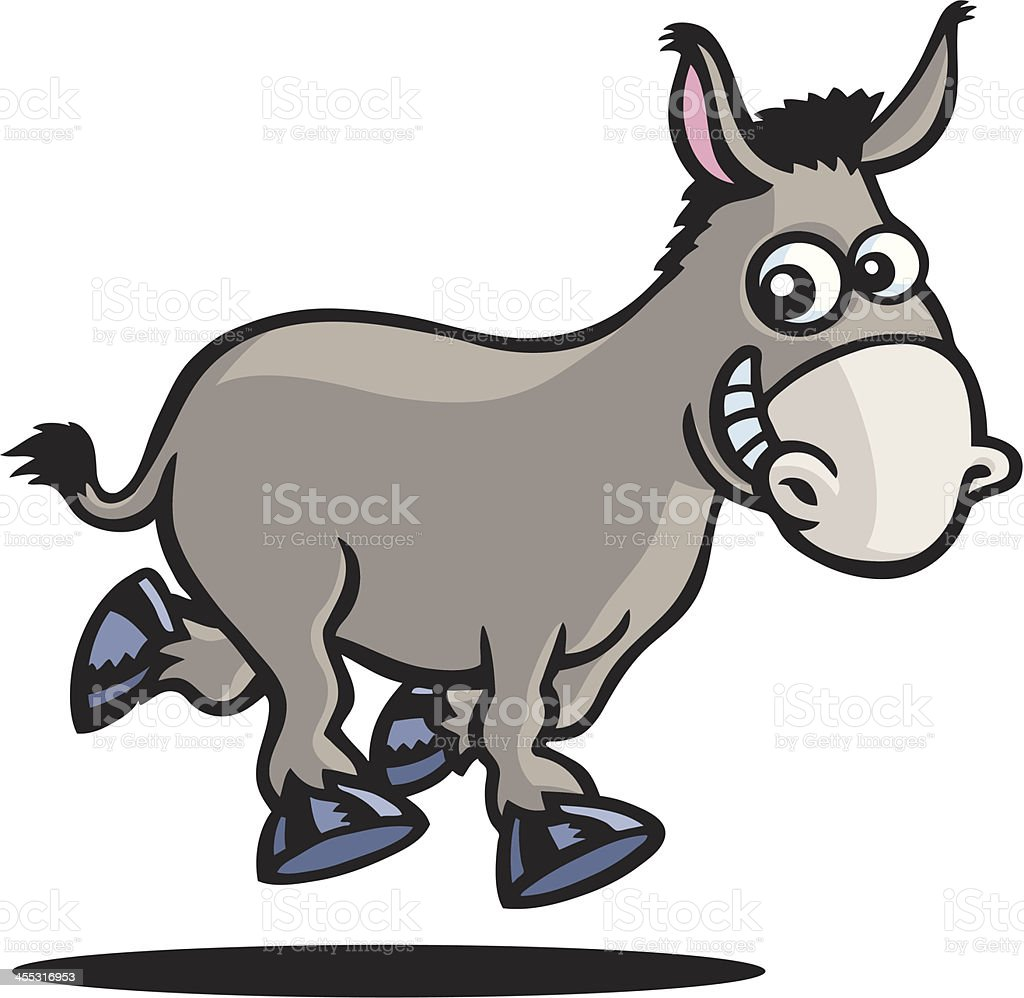 Donkey royalty-free stock vector art