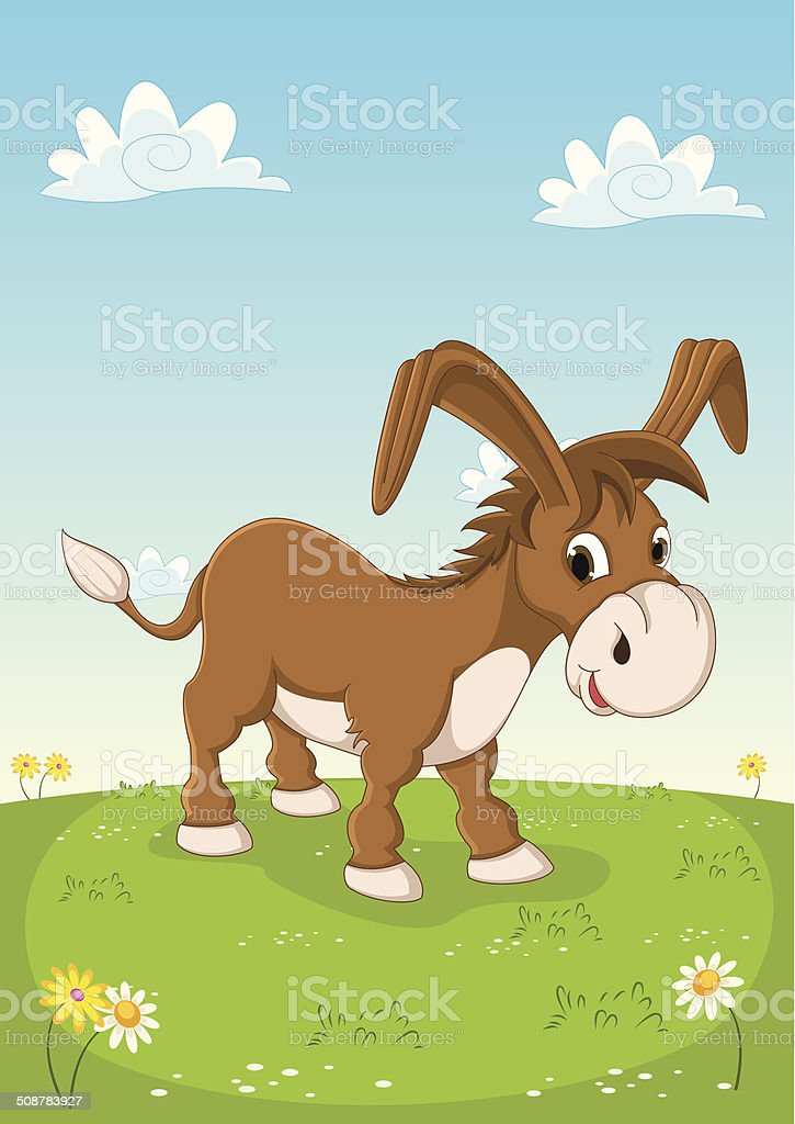Donkey Vector Illustration vector art illustration