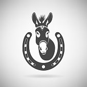 Donkey with a Horseshoe