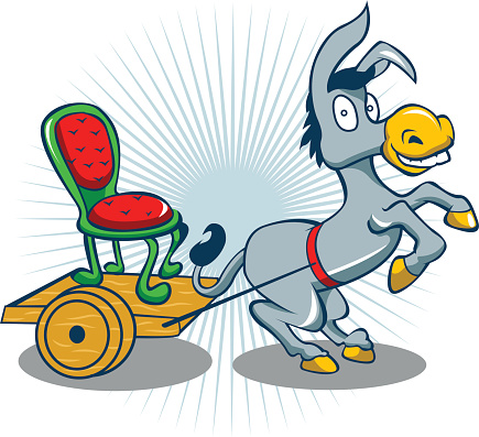 donkey with cart