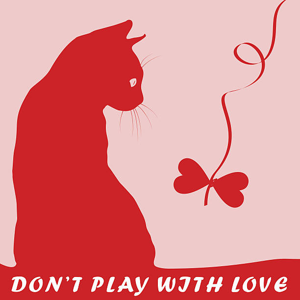 Don'n play with love vector art illustration