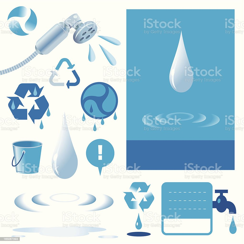 Don't be a drip! royalty-free stock vector art