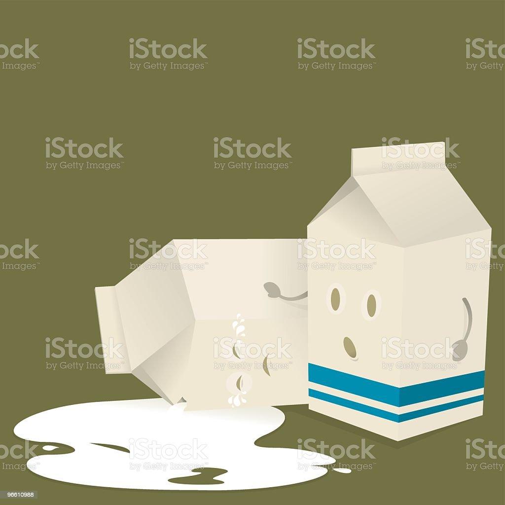 Weine Nicht Over Spilt Milkenglische Redewendung Stock Vektor Art ...