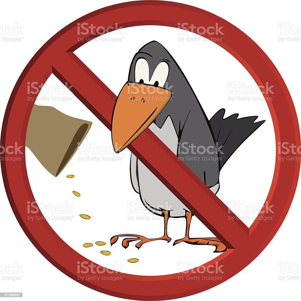 Don't feed the bird royalty-free dont feed the bird stock vector art & more images of advice