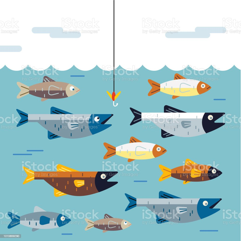 Dont get hooked vector art illustration