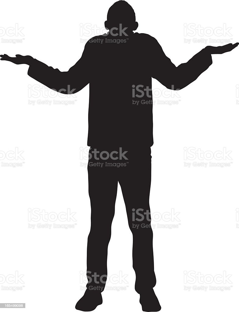 I Don't Know royalty-free stock vector art