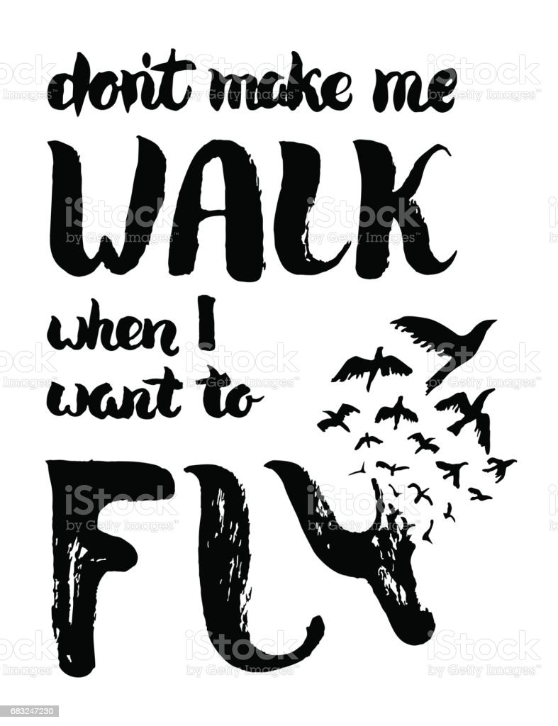 Dont make me walk when I want to fly royalty-free dont make me walk when i want to fly stock vector art & more images of abstract