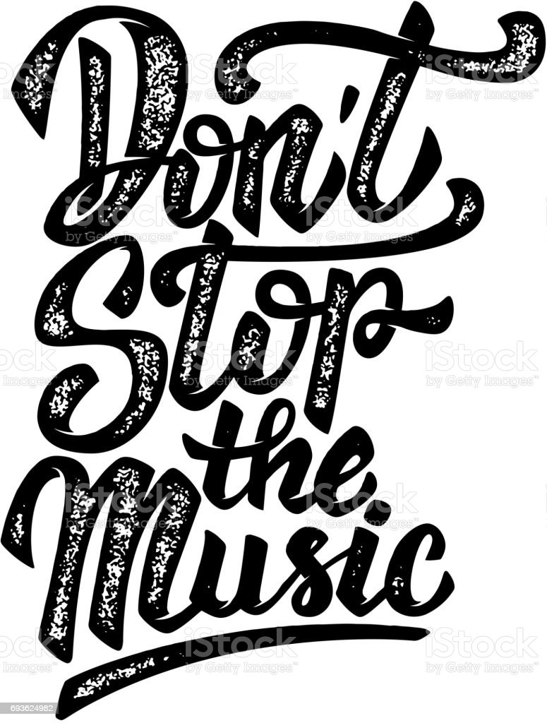 Ilustración De No Se Detenga La Música Dibujado A Mano