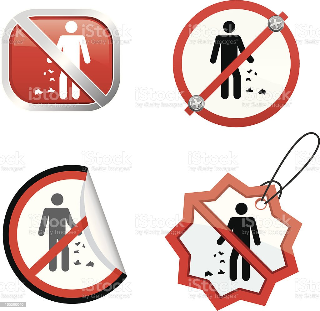 Don't throw trash royalty-free dont throw trash stock vector art & more images of clip art