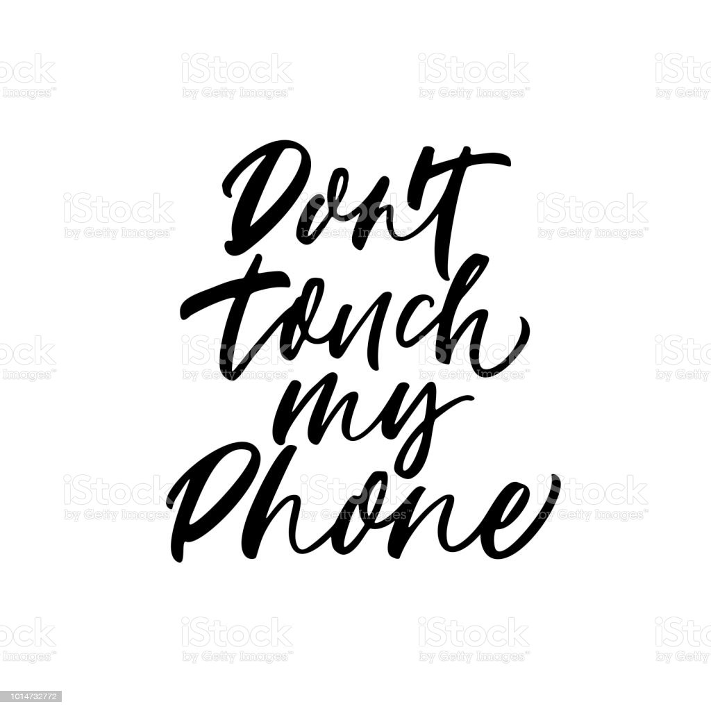 dont touch my phone card stock vector art more images of abstract That's Art don t touch my phone card royalty free dont touch my phone card