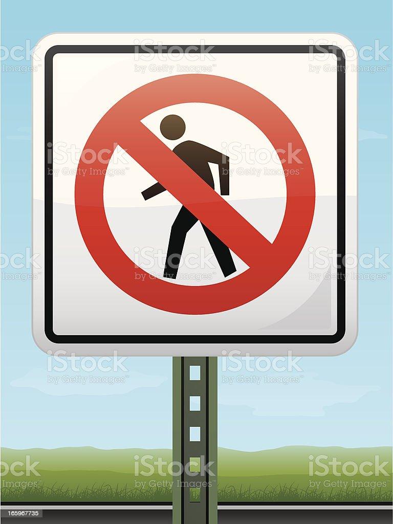 Don't Walk Sign royalty-free stock vector art