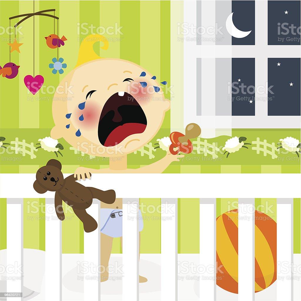 I dont want to sleep royalty-free stock vector art