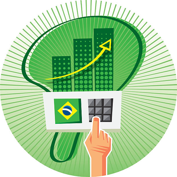 Don´t waste your vote Elections in Brazil are made with an electronic voting machine. Don´t waste your vote. economic reform stock illustrations