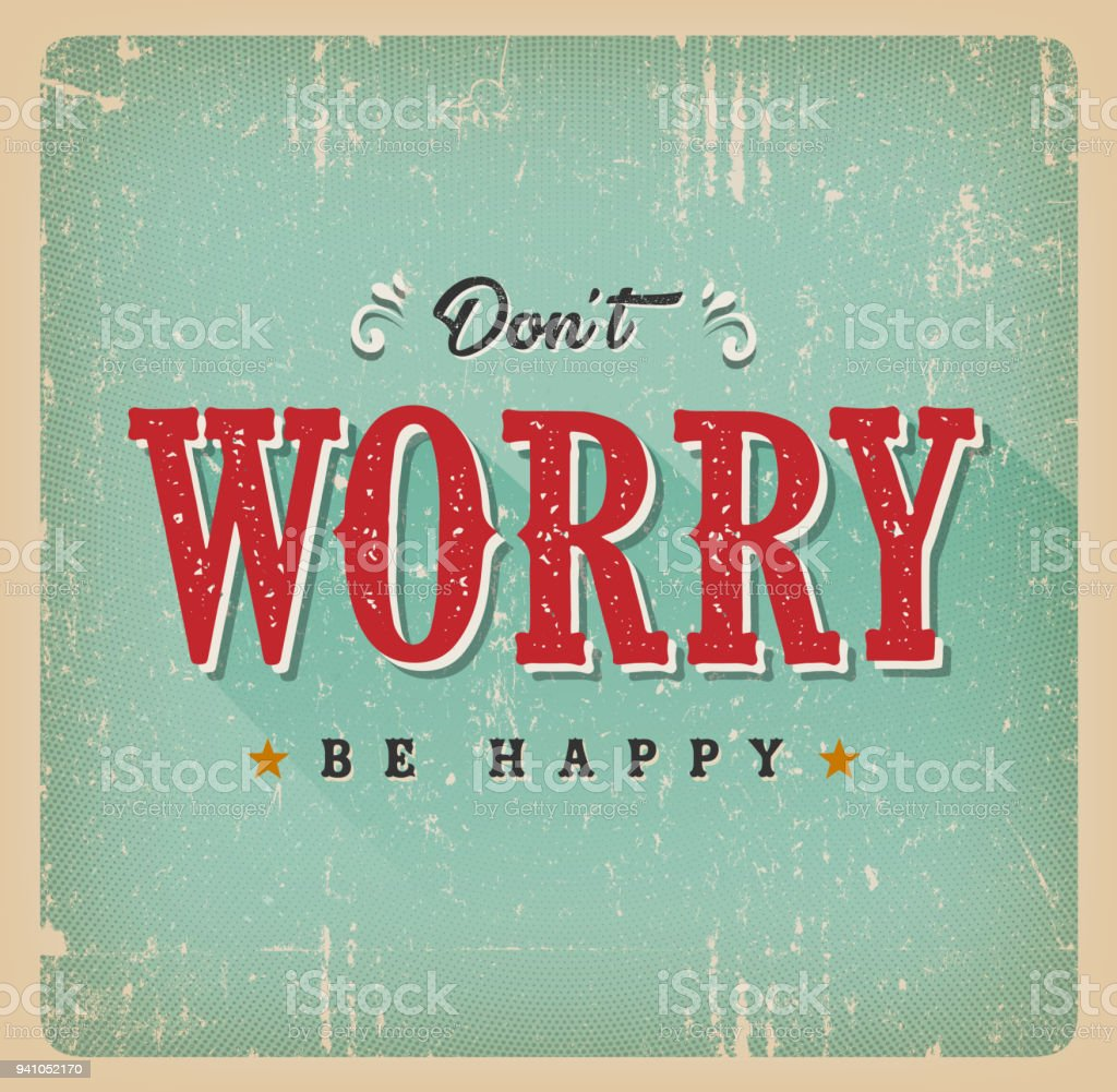 Don't Worry Be Happy Card vector art illustration