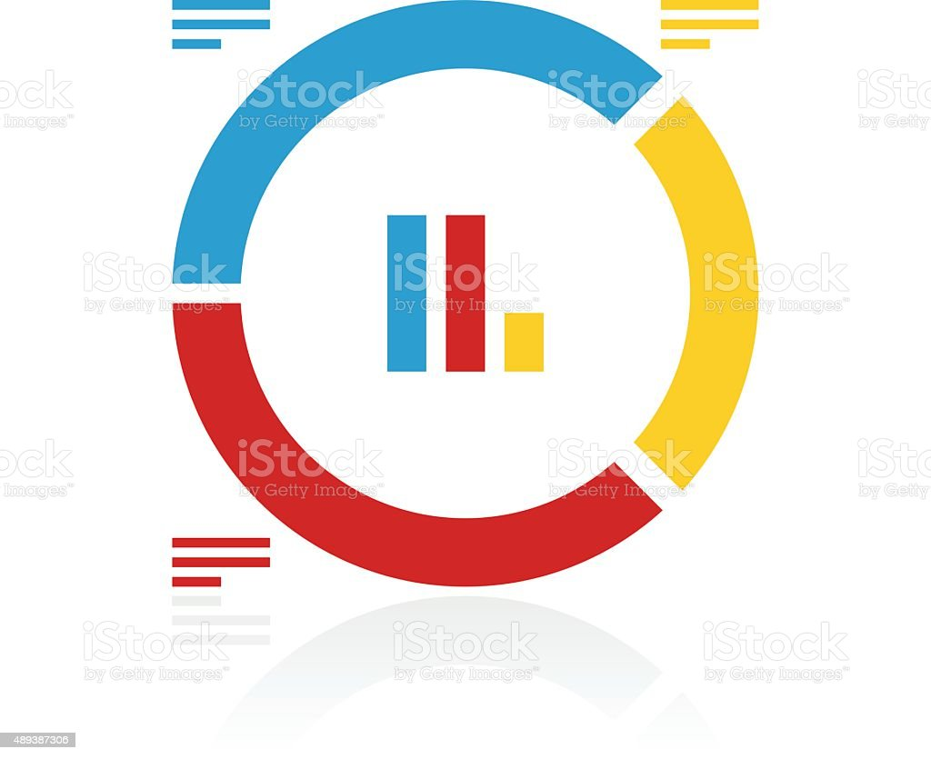 donut chart icon on a white background color series stock vector art rh istockphoto com