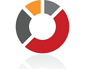 Donut Chart icon on a white background. - Pro Series