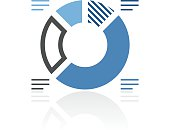Donut Chart icon on a white background. - Royal Series