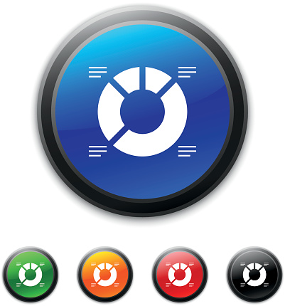 Donut Chart Icon On Round Buttons Shinedseries Stock ...