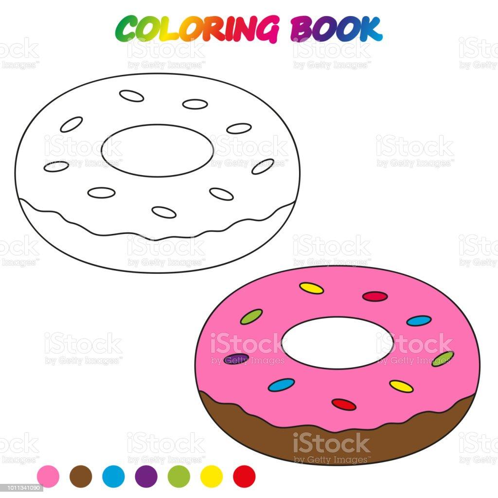 çörek Boyama Kitabı Okul öncesi çocuklar Yetiştirmek Için Boyama