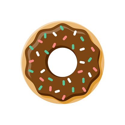 Donut Flat Design Dessert Icon